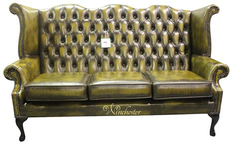 chesterfield high back sofa chesterfield 3 seater queen anne high back wing sofa chair