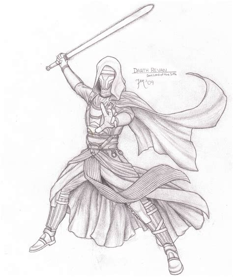 Republic Coloring Pages sith dynasty darth revan by leadzero on deviantart