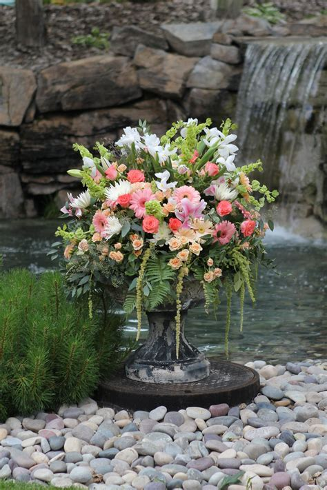 Grand Floral Wedding Centerpiece in pink, peach, and white