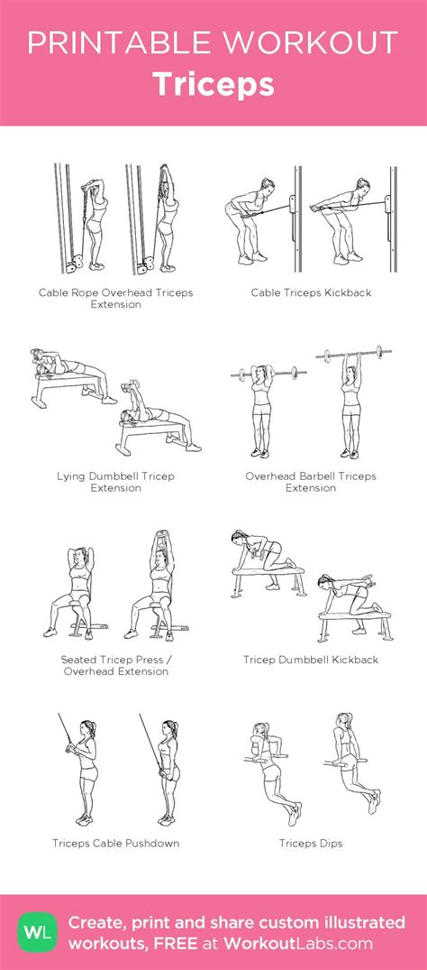 best 25 triceps workout ideas on