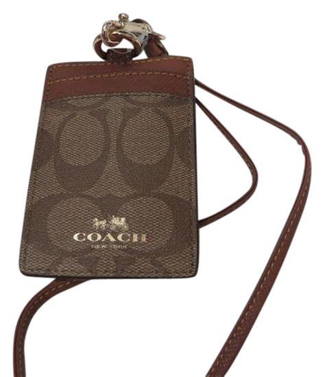 Lanyard Id Card Holder 5 coach id lanyard badge id badge card holder tradesy