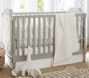 Baby Bedding Perth Blythe Convertible Cot Vintage Grey Pottery Barn