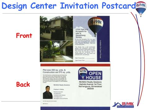 design center remax open house in a real estate sale