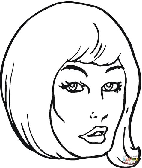 pretty hair coloring pages girl with beautiful hair coloring page free printable