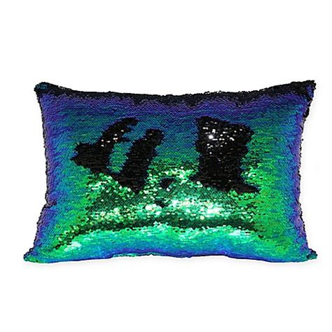green throw pillows for bed buy mermaid sequin throw pillow in green blue from bed