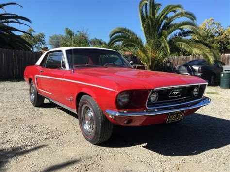 1968 ford mustang coupe j code no reserve for sale