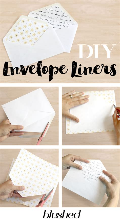 diy envelopes crouch blushed design diy easy envelope liner