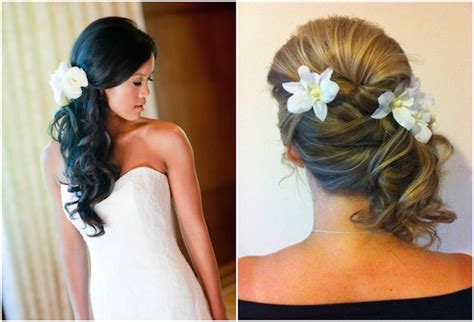 Wedding Hairstyles To The Side by Side Swept Side Wedding Hair With Veil