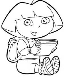 dora explorer coloring pages print az coloring pages