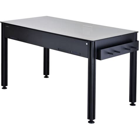 lian li dk 03 aluminum computer desk black dk 03x b h photo
