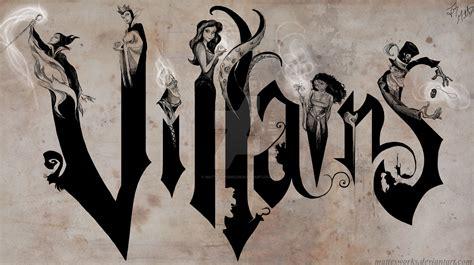 disney villains on canvas by mattesworks on deviantart