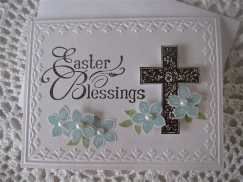 Handmade Religious Cards - handmade greeting card easter blessings religious
