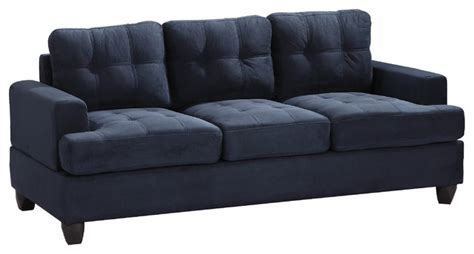 Contemporary Navy Blue Sectional Sofa Tufted Sofa Navy Blue Suede Contemporary Sofas By Furniture