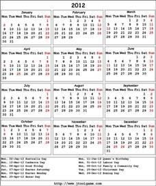 calendar template 2012 calendar 2012 printable calendar with list