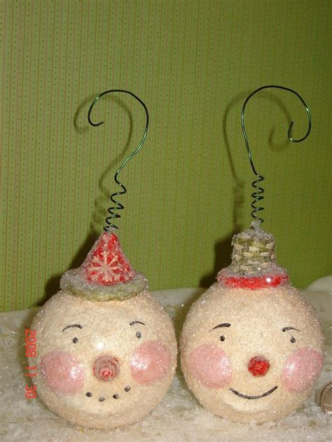 paper mache snowman ornament paper mache crafts pinterest