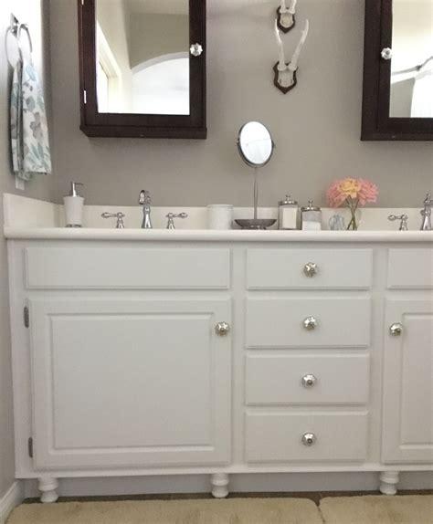 Adding Wood Feet To A Bathroom Vanity Honey N Hydrangea How To Change Bathroom Vanity