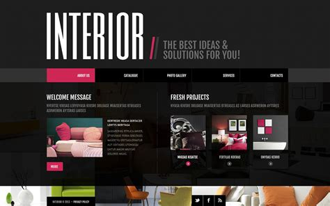 Interior Design Website Template #45410
