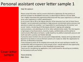 cover letter for personal care assistant personal assistant cover letter