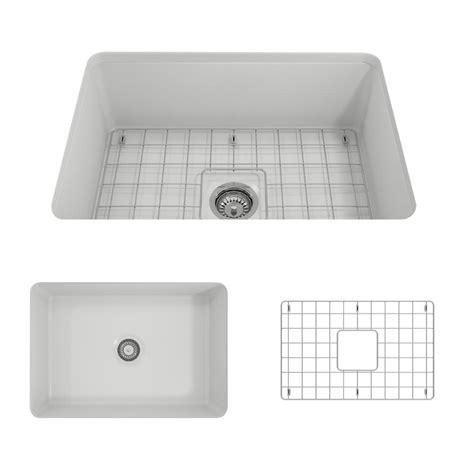 27 undermount kitchen sink bocchi sotto undermount fireclay 27 in single bowl