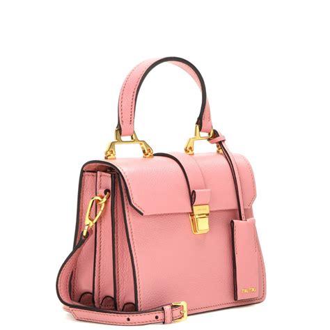 Miu Miu Shoulder Bag lyst miu miu leather shoulder bag in pink