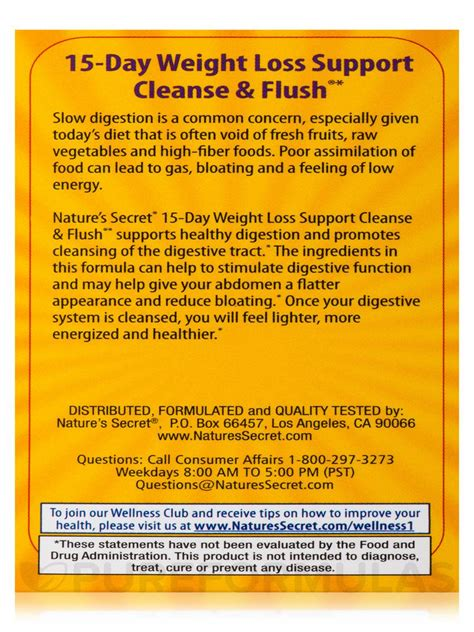 Cleanse 15 Day Detox Program Review by 15 Day Weight Loss Support Cleanse Flush 174 60 Tablets