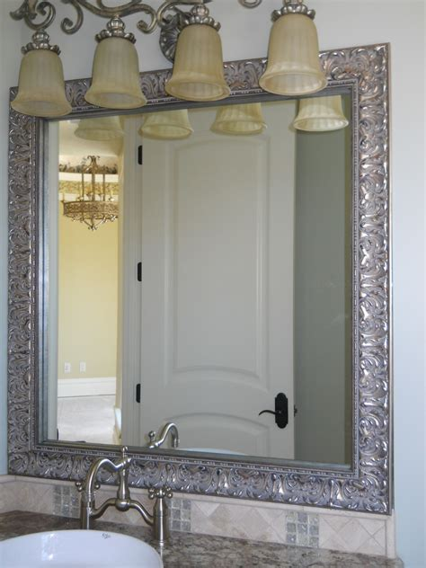frame an existing bathroom mirror reflected design bathroom mirror frame mirror frame kit