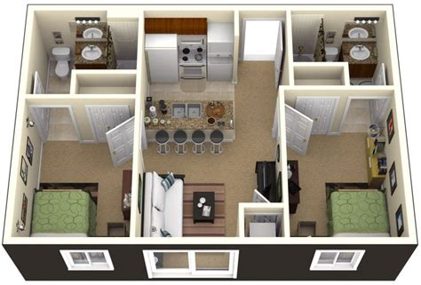 2 Bedroom House Decorating Ideas by One Bedroom House Plans 3d Search Small House