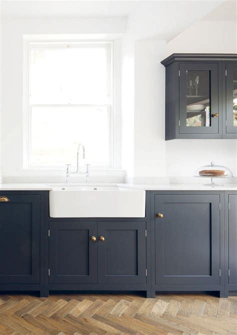 blue cabinets blue shaker cabinets with gold hardware transitional