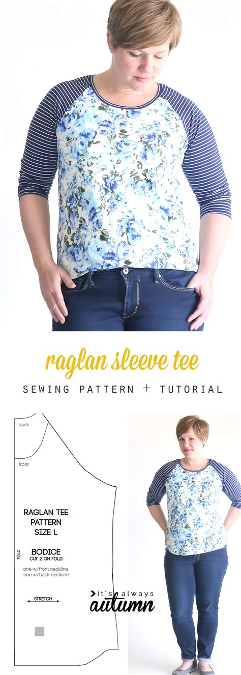 shirt pattern making pdf free raglan tee shirt sewing pattern women s size large