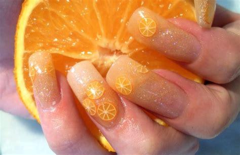 pretty orange 16 fruit nail art designs for summer pretty designs