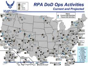 map of air bases in thousands of drones to be deployed us mainland