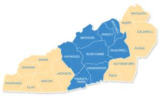 map of western carolina counties locations carepartners asheville nc