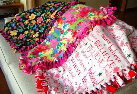Handmade Fleece Blankets - s comforters guild fleece blankets