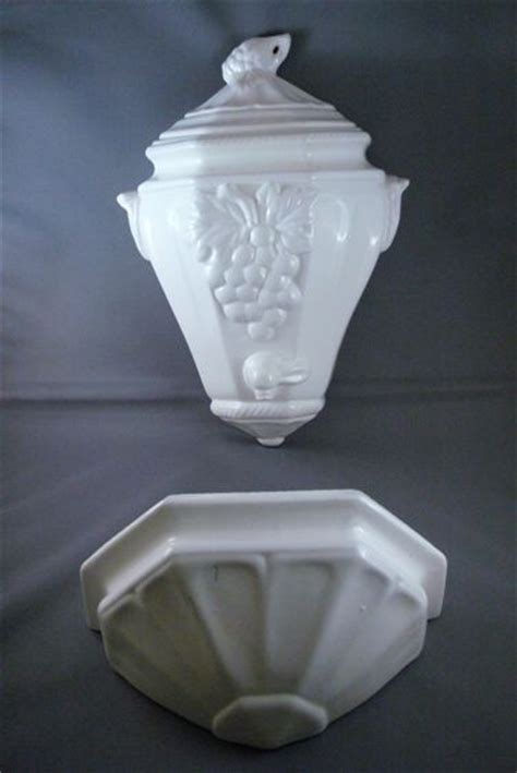 california pottery vintage lavabo  wall pocket set