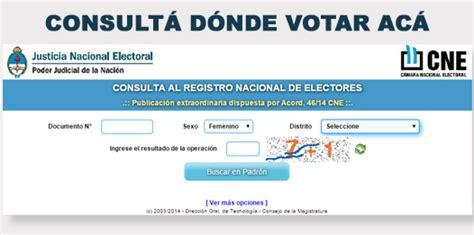 elecciones 2015 donde voto consulte aqu 237 d 243 nde votar padr 243 n electoral 2017