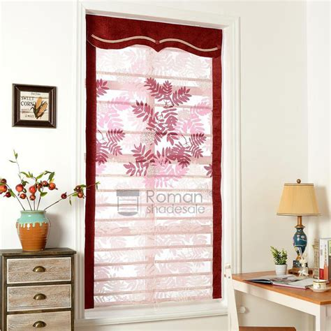 leaf patterned roman blinds chic leaf pattern print polyester roman shades window