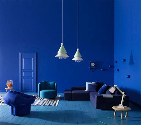 rich blue and pink interior decorating paint colors and