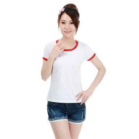 Kaos Wanita kaos polos katun wanita o neck size s 86201 t shirt