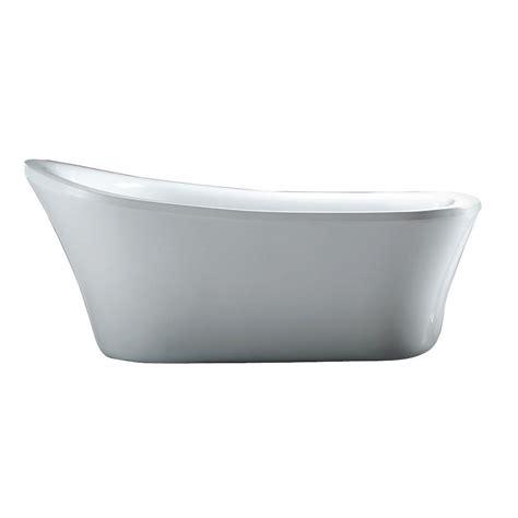 white bathtub schon aiden 5 8 ft reversible drain bathtub in white