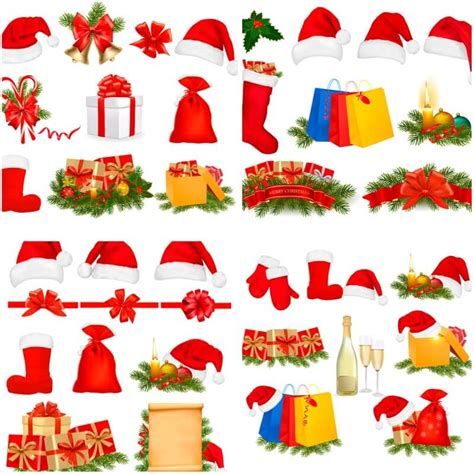 christmas decoration vector holliday decorations