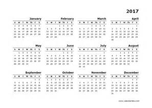 Definition Of Calendar 2017 Yearly Calendar Blank Minimal Design Free Printable