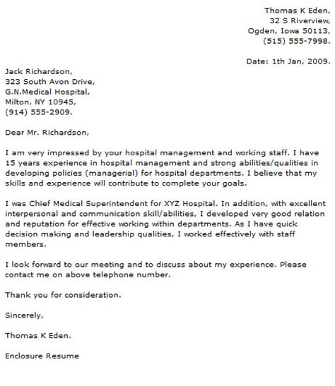 Cover Letter For Healthcare – Leading Healthcare Cover Letter Examples & Resources