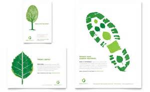 environmental non profit flyer amp ad template word