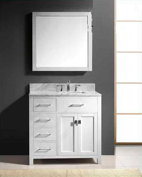 virtu usa bathroom vanities virtu usa 36 quot square sink bathroom vanity caroline vu ms