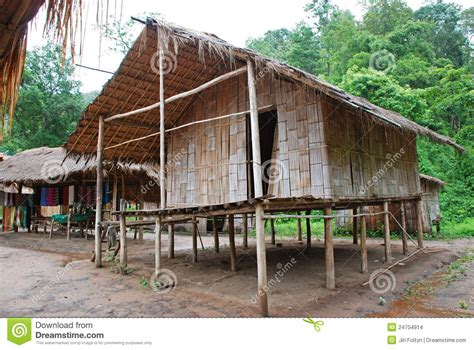 Asian House Plans bamboo house stock images image 24704914