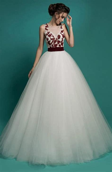 imagenes de vestidos de novia rojo con blanco vestidos de novia blanco con rojo corte princesa