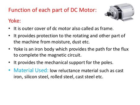 parts and function of electric motor dc motor