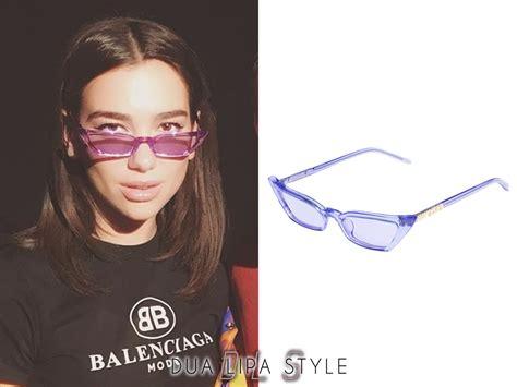dua lipa glasses dua lipa style