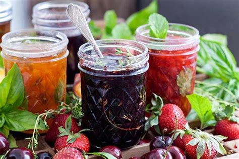 fruit jam simple fruit herb jam recipe