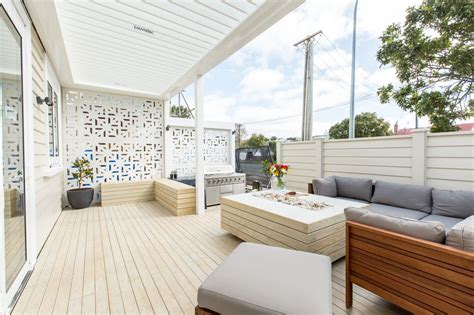 Outdoor Patio Designs Nz The Block Nz Villa Wars Outdoor Rooms And Guest Room Redo